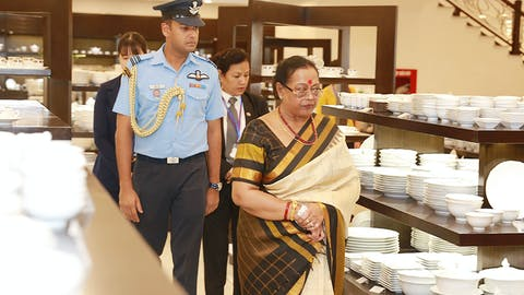 Indian First Lady visits Minh Long I Hanoi Showroom