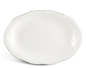 Oval plate 28 cm - Queen - Platinum line
