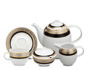 Coffee set 1.3 L - Sago - Rose (black-emboss)