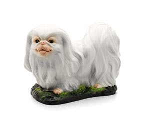 Pekinese 24.5 cm - Sculpture - White