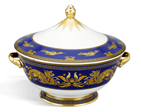 Soup tureen 22 cm + lid - Palace - King Blue (dragon)