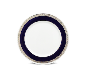 Round plate 20 cm - Sago - Cycad (blue-emboss)