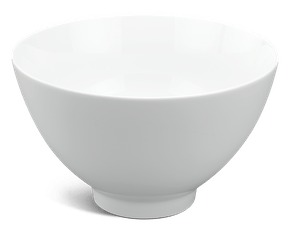 High soup bowl 23 cm - Daisy White