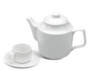 Tea set 0.7 L - Jasmine - White