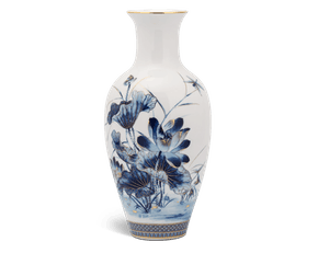Flower vase 30 cm - Golden Lotus