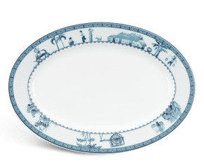 Oval plate 32 cm - Jasmine - Rural side