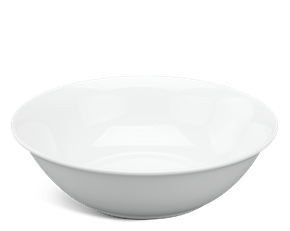 Low soup bowl 20 cm - Daisy White