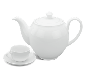 Tea set 0.8 L - Camellia - White