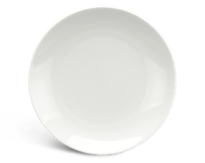 Flat round plate 16 cm - Daisy LY'S - White Ivory