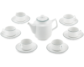Tea set 0.7 L - Jasmine - Green line