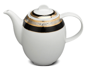 Coffee pot 1.3 L + lid - Sago - Rose (black-emboss)