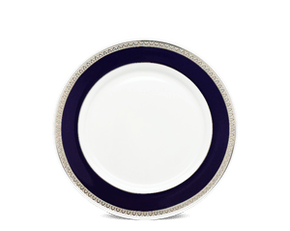 Round plate 27 cm - Sago - Cycad (blue-emboss)