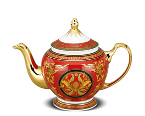 Tea pot 0.8 L + lid - Palace - King Red