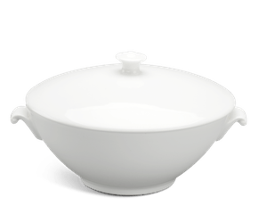 Soup tureen 1.0 L + lid - Daisy LY'S - White Ivory