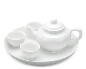 Tea set 0.35 L - Jasmine - White
