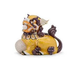 Kylin 24 cm (right) - Sculpture - Yellow/concha (gold line)