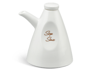 Soy sauce bottle 0.16 L + lid - Anna LY'S - White Ivory