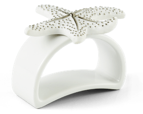 Starfish Platinum Lined Napkin Ring