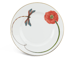 Round plate 20 cm - Camellia - Eternal love