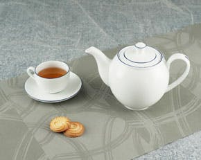 Tea set 1.1 L - Camellia - Blue line