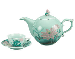 Tea set 0.7 L - Lotus - Celadon