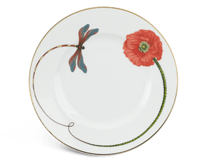 Round plate 27 cm - Camellia - Eternal love