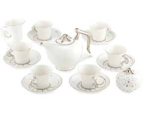 Tea set 1.2 L - Fish & clam - Platinum line