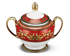 Sugar bowl 10 cm + lid - Palace - King Red