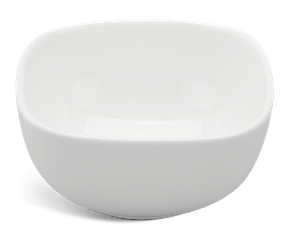 Square bowl 10 cm - Gourmet LY'S - White Ivory