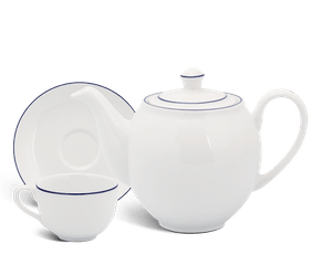 Tea set 0.8 L - Camellia - Blue line
