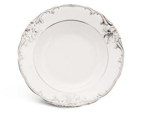 Soup plate 23 cm - Queen Decorated platinum