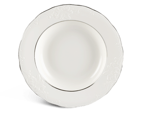 Soup plate 23 cm - Queen - Platinum line