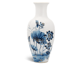 Flower vase 50 cm - Golden Lotus