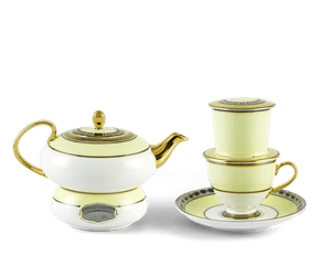 Golden Arc Tea Set w/ Filter 0.47L - Anna - Gold Royal