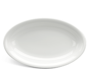 Flat oval plate 28 cm - Daisy LY'S - White Ivory