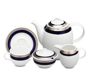 Coffee set 1.3 L - Sago - Cycad (blue-emboss)