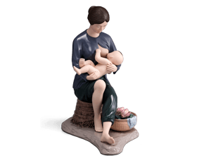 Devoted of life - Sculpture - Figurine