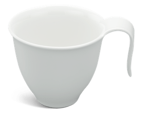 Coffee cup 0.11 L - Harmony LY'S - White Ivory