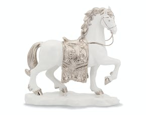 The Royal Horse - Sculpture - Decorated platinum