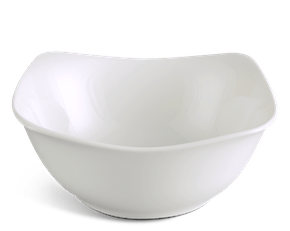 High square bowl 18 cm - Jasmine LY'S - White Ivory