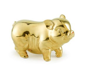 Prosperity 15 cm - Sculpture - Gold Plated Piggy