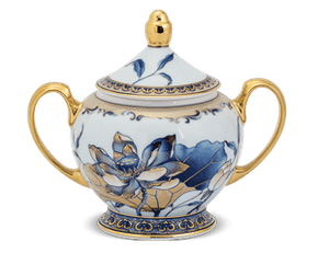 Sugar bowl 10 cm + lid - Palace - Gold Lotus 2