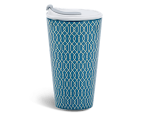 Porcelain Tumbler 0.48L and Straw Lid (Type 1) - Indigo (LTA)