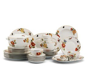 Set of 49 pcs + souptureen (for 10 persons) - Camellia - Lisianthus