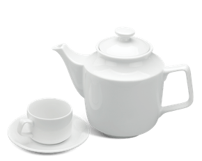 Tea set 1.1 L - Jasmine - White