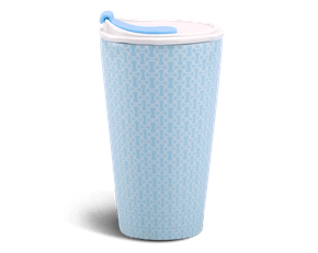 Porcelain Tumbler 0.48L and Straw Lid (Type 1) - Tiny 2 (LTJ)