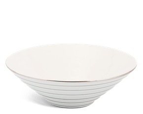 Low soup bowl 25 cm - Fish & clam - Platinum line