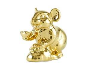 Wealth 13 cm – Sculpture - Gold Plated Mouse