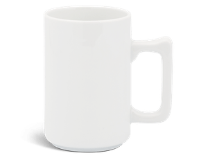 Mug 0.52 L (square handle) - Jasmine - White