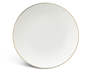 Flat round plate 26 cm - Daisy IFP - Gold line